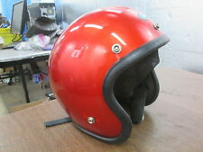 Vintage 1976 Buco 5 Snap Open Face Red Motorcycle MX Motocross Small Helmet