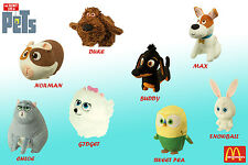 The Secret Life of Pets McDonald's Happy Meal TURKEY NEW AUGUST 2016 SET OF 8