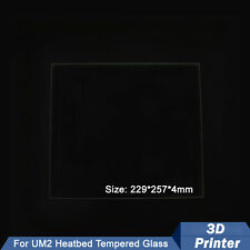 1PCS 229*257*4mm 3D Printer UM2 Heatbed Borosilicate Glass Plate For Ultimaker2