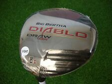 Brand New LH Callaway Big Bertha Diablo Fairway 5 Wood Draw Graphite Seniors