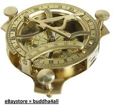 "4"" Sundial Compass - Solid Brass Sun Dial (Sundial) Made in India"