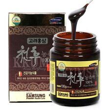 100% Pure Cheon Hu Korean Red Ginseng Extract 100g ( 1 Bottle ) panax ginseng