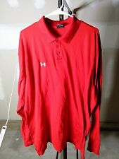 Three Red Under Armour Long sleeve Collared shirt Men's XXL
