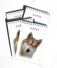 Siberian Husky Colour Pack of 4, A6 Dog Notepads Gift Set