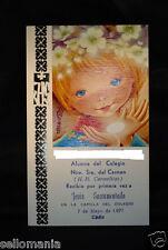 ANTIGUA ESTAMPA RELIGIOSA PRIMERA COMUNION OLD FIRST COMMUNION HOLY CARD CCER136