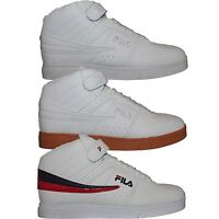 Mens Fila Vulc 13 LEATHER Mid High Top Casual Athletic Sneakers Shoes F13 White