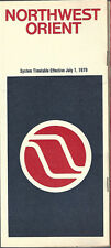 Northwest Orient Airlines system timetable 7/1/79 [6031] (Buy 3+ Save 25%)