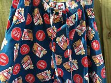 Men's Med. (32-34) Vintage Cracker Jack Brand Collector Sleep Pants Stretch Wst
