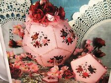 Victoria Sampler POMANDER ROSES PINCUSHION Counted Cross Stitch Chart & ACC PACK