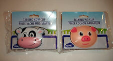 Talking Mooing Cow & Oinking Pig Snack Chips Clips Kitchen Gadget Gag Gift