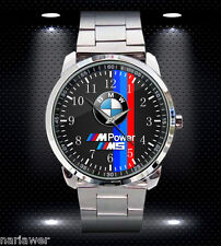 NEW BMW M POWER M5 SPORT CAR Mens Watch Stainless Steel Sport Metal Watch