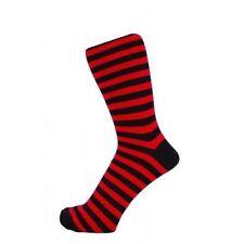 Para Hombre De Rojo Y Negro A Rayas calcetines de tobillo-Tamaño: Uk 6-11 Nuevo