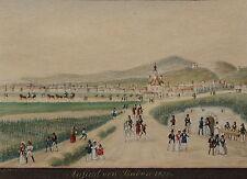 Rudolf Hille, Baden NÖ 1836, Aquarell, Miniatur, gerahmt