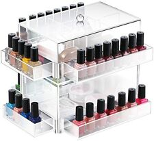 Ikee Design Clear Acrylic Rotating Makeup Organizer Storage Safe MakeUp Lipstick
