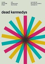 """Dead Kennedys (with Butthole Surfers) Washingtom D.C., 1982 14"""" x 10"""" Gig Poster"""