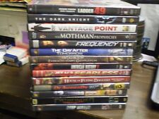 (14) Action DVD Lot: Dark Knight Ladder 49 American History X Fearless 12 Rounds