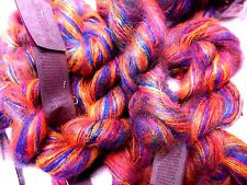 Blue+Orange+Violet+Pink JAMBOREE Colinette PARISIENNE Kid MOHAIR Nylon LACE YARN