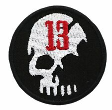 #13 SKULL BIKER embroidered PATCH