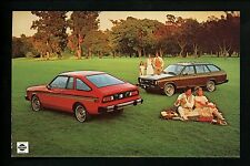 Car Auto Advertising postcard Nissan Datsun 210 1970's