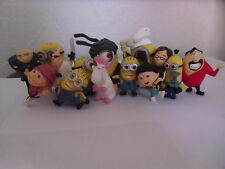 14 PCS SOLID DESPICABLE ME MINION TOY FIGURE SET OR CAKE TOPPERS