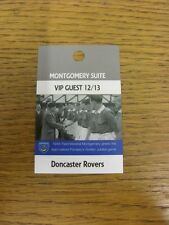 17/11/2012 Ticket: Portsmouth v Doncaster Rovers [Montgomery Suite VIP Guest Pas
