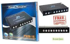 POWER ACOUSTIK PWM-16 CAR 4-BAND PARAMETRIC EQUALIZER EQ SUB CROSSOVER AUX IN
