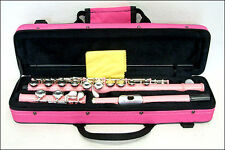 **GREAT GIFT**Light Pink Closed Hole Flute with Pink Carrying Case CLEARANCE