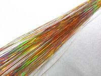 """300S laser sparkle gold 28"""" Silk Hair Tinsel Salon for Feather Hair Extension"""