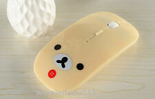 Lovely Cute Beige Rilakkuma Relax Bear Optical USB Mice 2.4GHz Wireless Mouse