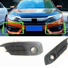 2PCS For Honda Civic 2016 Car Front Bumper Fog/Driving Lights Housing COVERS L&R