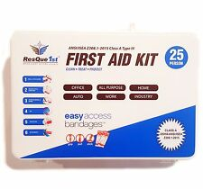 NEW ResQue1st First Aid Kit Class A 25-Person 2015 ANSI Compliant | Office Home