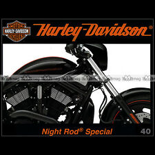 HARLEY-DAVIDSON N°40 ★ HD VRSCDX NIGHT ROD SPECIAL ★ ARMY CHOPPER YORK MUSEUM