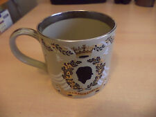 OLD VINTAGE CHINA ROYALTY LARGE MUG QUEEN 1970S WEDDING WEDGWOOD RICHARD GUYATT
