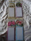 MAGNETIC NOTEPAD AND PENCIL- PUPPY, KITTEN, CUPCAKES, FLOWERS DESIGN - BRAND NEW