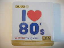 COMPIL' I LOVE 80'S : VARIETES FRANCAISES 3 CD NEUF DELUXE - TOUS LES TUBES !