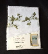 "CURTAIN CHIC - GARDEN PATH - IVY - TIER PAIR - 56""W  X 24""L - NEW IN PACKAGE"