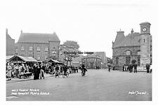 pt4824 - Goole Clock Tower and Market Place , Yorkshire - photo 6x4