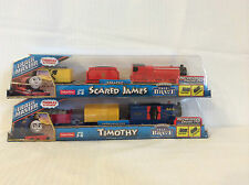 NEW 2014 THOMAS & FRIENDS Lot of 2 TRACKMASTER MOTORIZED SCARED JAMES & TIMOTHY
