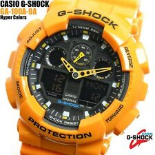 CASIO G-SHOCK MENS WATCH GA-100A-9A FREE EXPRESS PUMPKIN GA-100A-9ADR DIGITAL