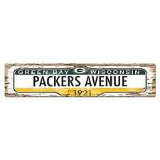 SP0385 PACKERS AVENUE Street Sign Bar Store Shop Cafe Home Chic Wall Decor