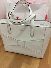 NWT Kate Spade Francisca Tote New Auth Leather Bag Bridge Place Cream Large $428