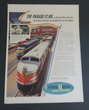 Original 1942 Print Ad GENERAL MOTORS GM LOCOMOTIVES Parade is On La Grange IL