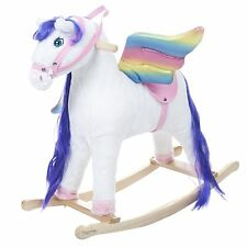 Happy Trails Pegasus Rocking Horse with Wooden Rocker