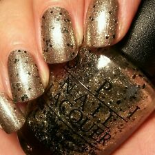 OPI nail polish WONDEROUS STAR gold back   sparkle shimmer nail art lacquer