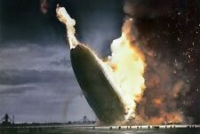 The Hindenburg , Photo of The Hindenburg disaster in 1937 , Colorized.