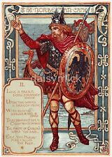 Walter Crane Columbia's Courtship The Norseman Viking 12x8 Inch Print