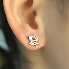 SILVER PLATED BUTTERFLY STUD EARRINGS