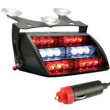 18LED Firefighter Vehicle Emergency Dash Warning Light Strobe Flash Red&White