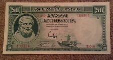 Greece Banknote. 50 Drachmai. Dated 1939.