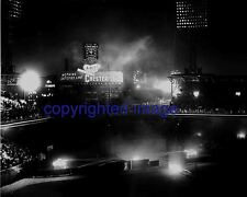 Comiskey Park fireworks with Chesterfield Scoreboard B+W 8x10 V